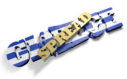 Spread crush Greece Royalty Free Stock Image