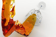 The spread drink from the broken glass Royalty Free Stock Photography