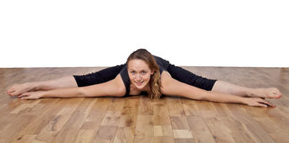 Spread eagle flexibility Stock Images
