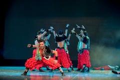 Spread eagle-The Mongolians-The national folk dance Stock Photos