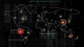 Spread of an epidemic pandemic across the global world. Virus infections on Earth. Corona / SARS / Covid Virus is spreading. Dange