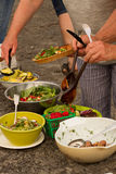 Spread of Food at a Picnic in Summertime Royalty Free Stock Photo
