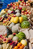Spread of Fruits and Vegetables royalty free stock photography