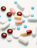 Spread group of pills Royalty Free Stock Image