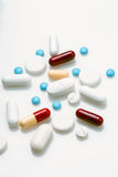Spread group of pills Stock Photos