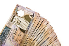 Spread Jordanian Banknotes Royalty Free Stock Images