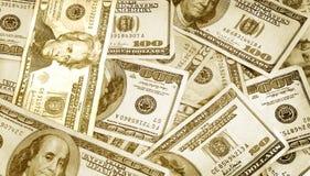 Cash Money on Table Stock Photos