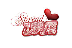 Spread love Stock Image