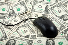 Spread of Money as background Stock Photography