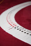 Spread out deck of cards Stock Photography
