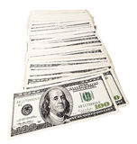 Isolated 100 US$ Bills Pile Royalty Free Stock Images