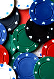 Spread of poker chips Stock Image