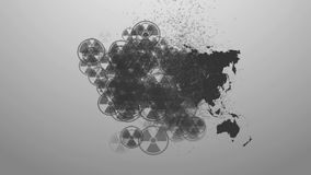 The spread of radiation on the ground stock video footage