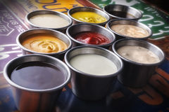 Spread sauces Stock Photography