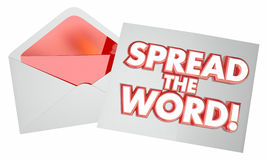 Spread the Word Letter Message Note Envelope Royalty Free Stock Photos