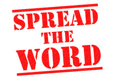 SPREAD THE WORD Royalty Free Stock Photo