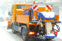 Spreader vehicle Stock Photo