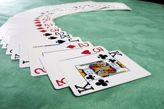 Spreading of cards Royalty Free Stock Images