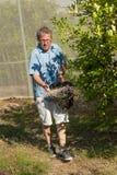 Spreading fertilizer Royalty Free Stock Photography