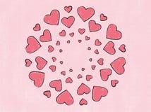 Spreading of love Mandala Painting Illustration Royalty Free Stock Images