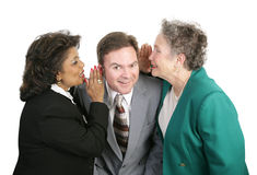 Spreading Office Rumors Royalty Free Stock Image