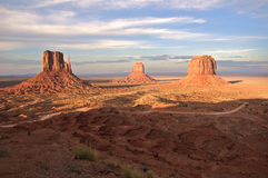 Spreading Shadows. Over Monument Valley Royalty Free Stock Photography