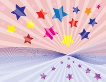 Spreading stars background Royalty Free Stock Photo