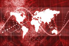 Spreading Worldwide. Abstract Wallpaper Background in Red Tones vector illustration