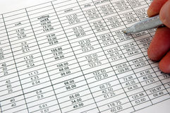 Spreadsheet Royalty Free Stock Photos