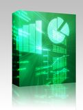Spreadsheet business charts box Royalty Free Stock Image