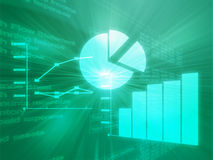 Spreadsheet business charts illustration Stock Image