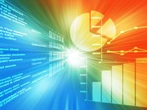 Spreadsheet data Stock Photography