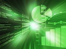Spreadsheet data green Stock Images