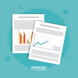 Spreadsheet design, business and infographic concept, Stock Photo