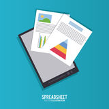 Spreadsheet design, business and infographic concept, Stock Photos