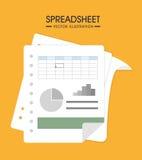 Spreadsheet design,  illustration. Royalty Free Stock Image