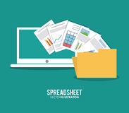 Spreadsheet design, technology and infographic concept. Spreadsheet concept with icon design, vector illustration 10 eps graphic Royalty Free Stock Photography