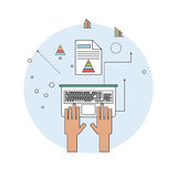 Spreadsheet design, technology and infographic concept Stock Image
