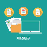 Spreadsheet design, technology and infographic concept Royalty Free Stock Photography