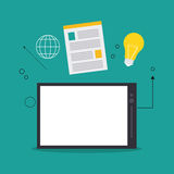 Spreadsheet design, technology and infographic concept Royalty Free Stock Images