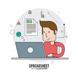 Spreadsheet design, technology and infographic concept Royalty Free Stock Image