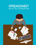 Spreadsheet design, vector illustration. Royalty Free Stock Image