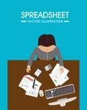 Spreadsheet design, vector illustration. Royalty Free Stock Image