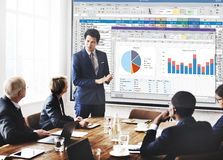 Spreadsheet Document Financal Report Concept Stock Images
