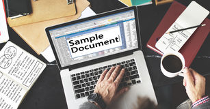 Spreadsheet Document Information Financial Startup Concept Stock Photo