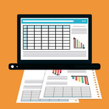 Spreadsheet icon design. Spreadsheet concept with icon design, vector illustration 10 eps graphic Royalty Free Stock Image