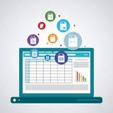 Spreadsheet icon design Stock Photography