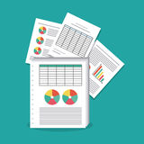Spreadsheet icon design Royalty Free Stock Images