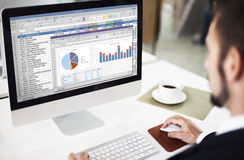 Spreadsheet Marketing Budget Report File Concept Royalty Free Stock Photo