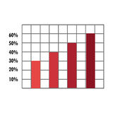Spreadsheet with statistics graphics icon. Stock Photography